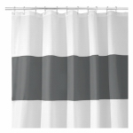 Interdesign 26915 Shower Curtain, Charcoal & White Polyester, 72 x 72-In.