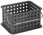 Interdesign 61286 Basket Caddy, Slate Plastic, 9.25 x 7 x 5-In.