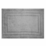 Sam Hedaya R0008-GRAY Bath Rug, Gray Cotton, 21 x 32-In.