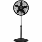 Lasko Products 1827 Pedestal Fan, Adjustable, Black, 18-In.