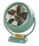 Vornado Fans CR1-0224-17 VFan Junior Vintage Air Circulator, Green Metal