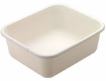 Rubbermaid 2951-AR BISQUE Plastic Dish Pan, Rectangular, Bisque, 11.5-Qts.