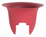 "Bloem MR1212 12"" RED Rail Planter"