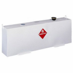 Delta Consolidated Inds 486000 Vertical Steel Transfer Tank, White, 37-Gal.