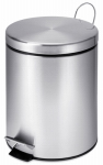 Honey Can Do Intl TRS-01449 Step Trash Can, Stainless Steel, Round, 1.3-Gal.
