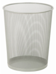 Honey Can Do Intl TRS-02101 Metal Wastebasket, Silver Mesh, Round, 4.8-Gal.