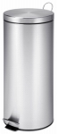 Honey Can Do Intl TRS-02110 Step Trash Can, Stainless Steel, Round, 7.9-Gal.