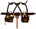 Custom Leathercraft DG5617 Pro Framer's Combo Apron and Yoke-Style Suspenders