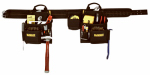Custom Leathercraft DG5640 Deluxe Carpenter's Combo Apron, 16-Pocket