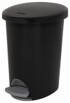 Sterilite 10819002 Ultra Step-On Wastebasket, Black, 2.6-Gal.