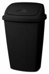 Sterilite 10889004 Swing-Top Wastebasket, Black, 13.2-Gal.
