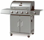 Chant Kitchen Equipment BG2724B 4-Burner Gas Grill + Side Burner