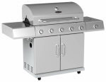 Chant Kitchen Equipment BG2615B 5-Burner Gas Grill + Side Burner