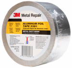 3M 3381 Aluminum Foil Tape, Silver, 1.88-In. x 50-Yds.
