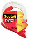 3M 3650S-RD Long Lasting Moving Tape, Clear, 1.88-In. x 38.2-Yds.