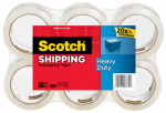 3M 3850-6 Shipping Packaging Tape, 1.88-In. x 54.6-Yd., 6-Pk.