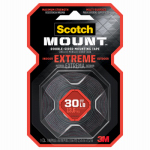 3M 414P Extreme Mounting Tape, 1-In. x 5-Ft.