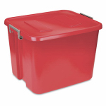 Sterilite 17426606 Tote Box with Latch, Red, 20-Gal., Must Purchase in Quantities of 6