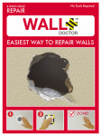 Spark Innovation 857101004808 Wall Doctor Drywall Repair Kit, Single-Hole, 4-In.