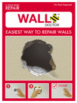Spark Innovation 857101004839 Wall Doctor Drywall Repair Kit, Single-Hole, 3-In.