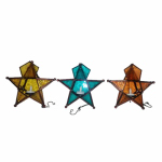 Smart Solar WY256B-2 B/O Hanging Glass Star