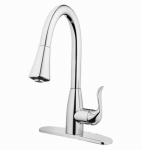 Homewerks Worldwide 171083CA Single Handle Kitchen Faucet With 2-Function Spray, Chrome