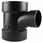 Charlotte Pipe & Foundry ABS 00401  1800HA Pipe Fitting, ABS/DWV Reducing Sanitary Tee, 4 x 4 x 2-In.