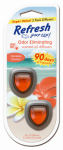 American Covers 09136 Car Air Freshener Mini Oil Diffuser, Hawaiian Sunrise, 2-Pk.