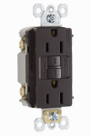 Pass & Seymour 1597CCD12 GFCI Outlet, Self Testing, 15A, Brown