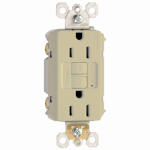 Pass & Seymour 1597I3PKCC4 GFCI Outlet, 15A, Ivory, 3-Pack
