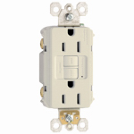 Pass & Seymour 1597LA3PKCC4 GFCI Outlet, 15A, Almond, 3-Pack