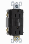 Pass & Seymour 1597NTLTRBKCCD4 GFCI Receptacle/Night Light, 15A, Black