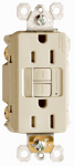 Pass & Seymour 1597NTLTRICC4 GFCI Receptacle/Night Light, 15A, Ivory