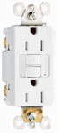 Pass & Seymour 1597NTLTRWCC4 GFCI Receptacle/Night Light, 15A, White