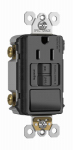 Pass & Seymour 1597SWTTRBKCC4 GFCI Receptacle/Single-Pole Switch, 15A, Black