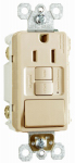 Pass & Seymour 1597SWTTRICC4 GFCI Receptacle/Single-Pole Switch, 15A, Ivory