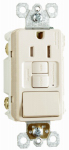 Pass & Seymour 1597SWTTRLACC4 GFCI Receptacle/Single-Pole Switch, 15A, Almond