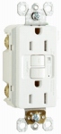Pass & Seymour 1597TRAWCC4 GFCI Receptacle, 15A, White