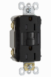Pass & Seymour 1597TRBKCC4 GFCI Receptacle, 15A, Black