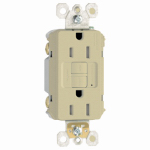 Pass & Seymour 1597TRICC4 GFCI Receptacle, 15A, Ivory