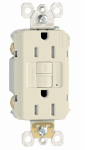 Pass & Seymour 1597TRLACC4 GFCI Receptacle, 15A, Almond
