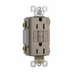 Pass & Seymour 1597TRNICC4 GFCI Receptacle, Self Testing, 15A, Nicekl Finish