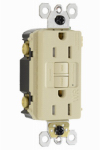 Pass & Seymour 1597TRWRICCD4 GFCI Receptacle, 15A, Ivory