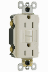 Pass & Seymour 1597TRWRLACCD4 GFCI Receptacle, 15A, Almond