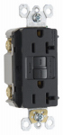 Pass & Seymour 2097BKCC10 GFCI Outlet, Feed Through, Self Testing, 20A, Black