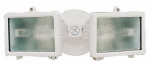 Heathco HZ-5502-WH Twin Halogen Flood Light, 150-Watt, White