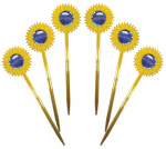 Bird B Gone MMSFL-6 Scare Bird Repellent Garden Stakes, 6-Pk.