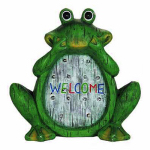 Exhart Environmental Systems 10956 Solar LED Frog Statue, 12-In.