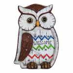 Exhart Environmental Systems 10959 Solar LED Owl Statue, 13-In.