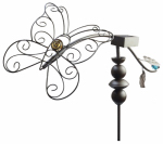 Southwire/Coleman Cable 92547TVDI Dancing Butterfly Stake, Solor Powered